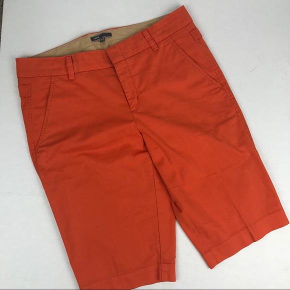 ae1d49cb35 Vince Shorts | Orange Side Buckle Bermuda Size 10 | Poshmark